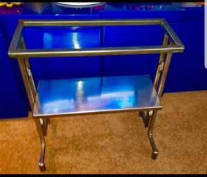 Custom made 30 gallon stainless steel fish tank stand